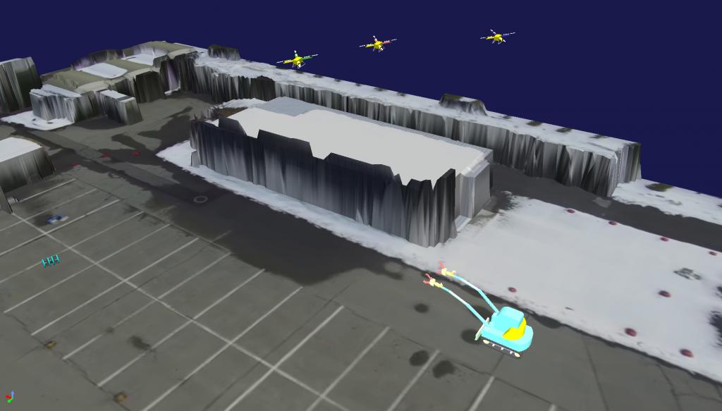 ロボット移動軌跡表示